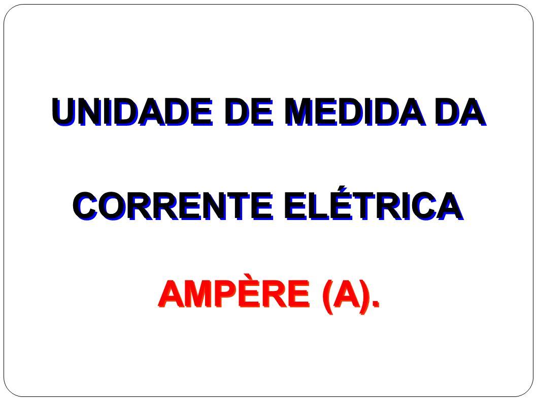 Intensidade da corrente elétrica Lembre-se: Q = n. e e = 1,6.10 -19 C Unidades SI: Q=> Coulomb [C] Δt => Segundo [s] i => Ampère [A]