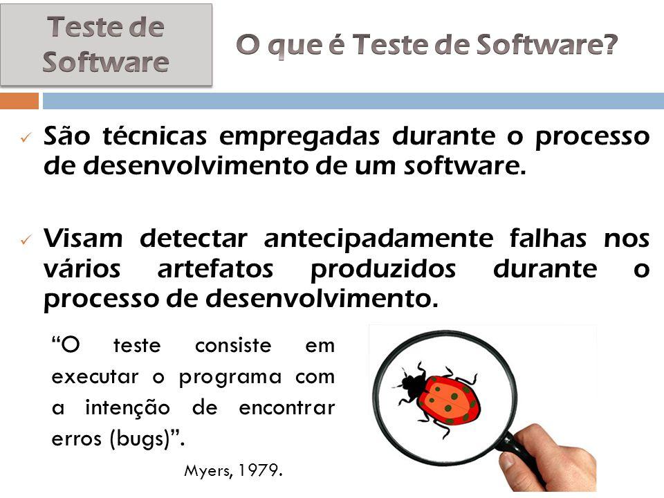 São técnicas empregadas durante o processo de desenvolvimento de um software. Visam detectar antecipadamente falhas nos vários artefatos produzidos du