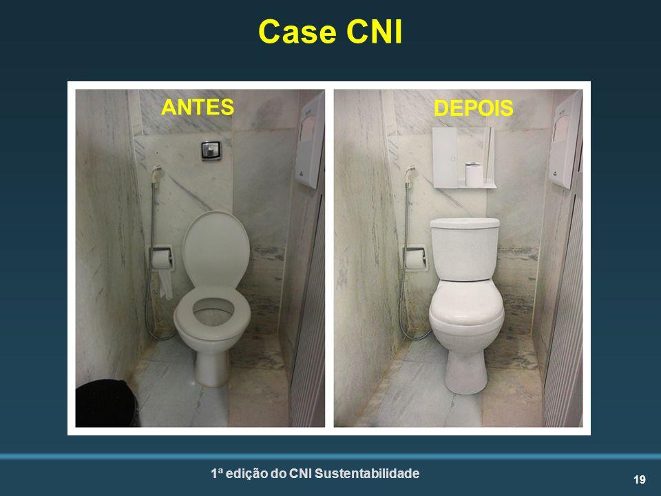 19 1ª edição do CNI Sustentabilidade Case CNI ANTES DEPOIS