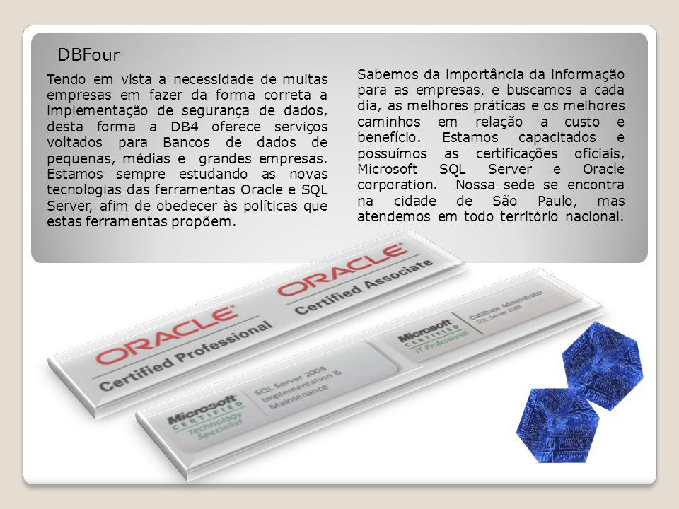Nossos Serviços Toda informação de uma empresa informatizada se encontra dentro de um banco de dados.