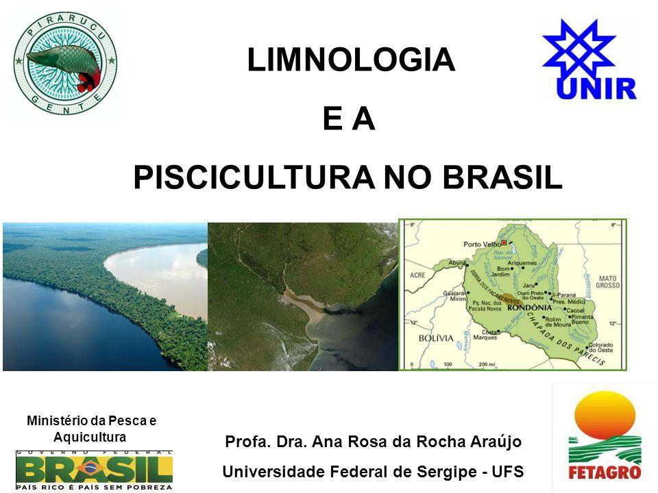 LIMNOLOGIA E A PISCICULTURA NO BRASIL Ministério da Pesca e Aquicultura Profa.