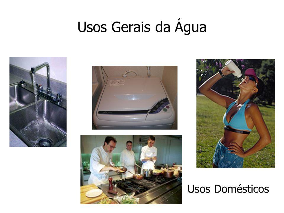 Usos Gerais da Água Usos Domésticos