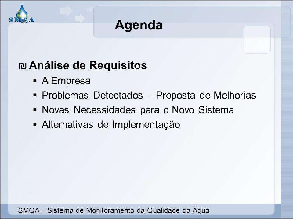 Agenda Análise de Requisitos A Empresa Problemas Detectados – Proposta de Melhorias Novas Necessidades para o Novo Sistema Alternativas de Implementaç