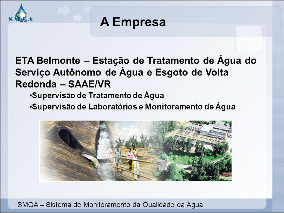 A Empresa ETA Belmonte – Estação de Tratamento de Água do Serviço Autônomo de Água e Esgoto de Volta Redonda – SAAE/VR Supervisão de Tratamento de Águ