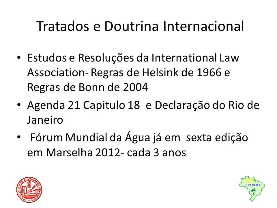 Tratados e Doutrina Internacional Estudos e Resoluções da International Law Association- Regras de Helsink de 1966 e Regras de Bonn de 2004 Agenda 21