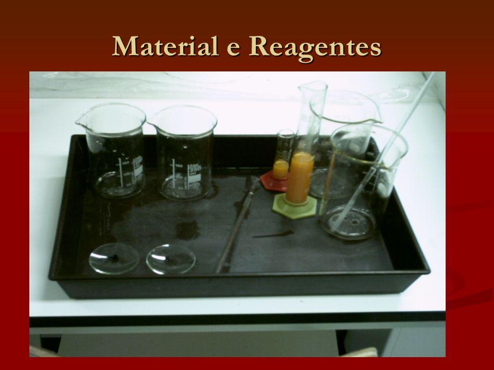 Procedimento A Procedimento A - Copos - Vareta de vidro - Vidro de relógio - Permanganato de potássio - Água Procedimento B Procedimento B - Copos - Vareta de vidro - Provetas - Água - Sunquick