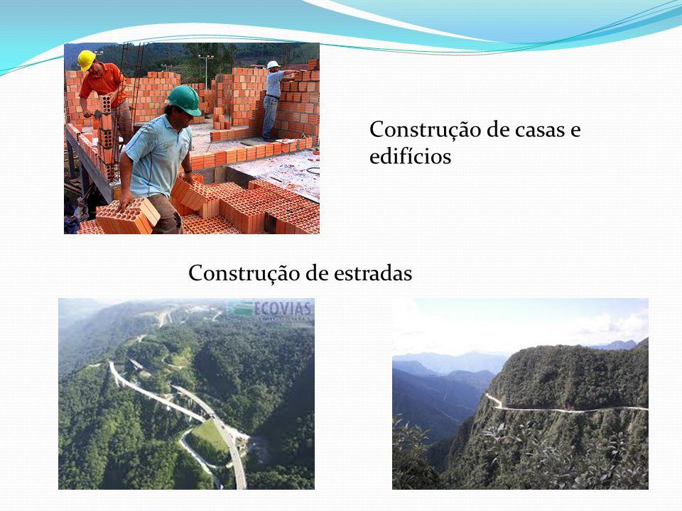 Construção de estradas Construção de casas e edifícios