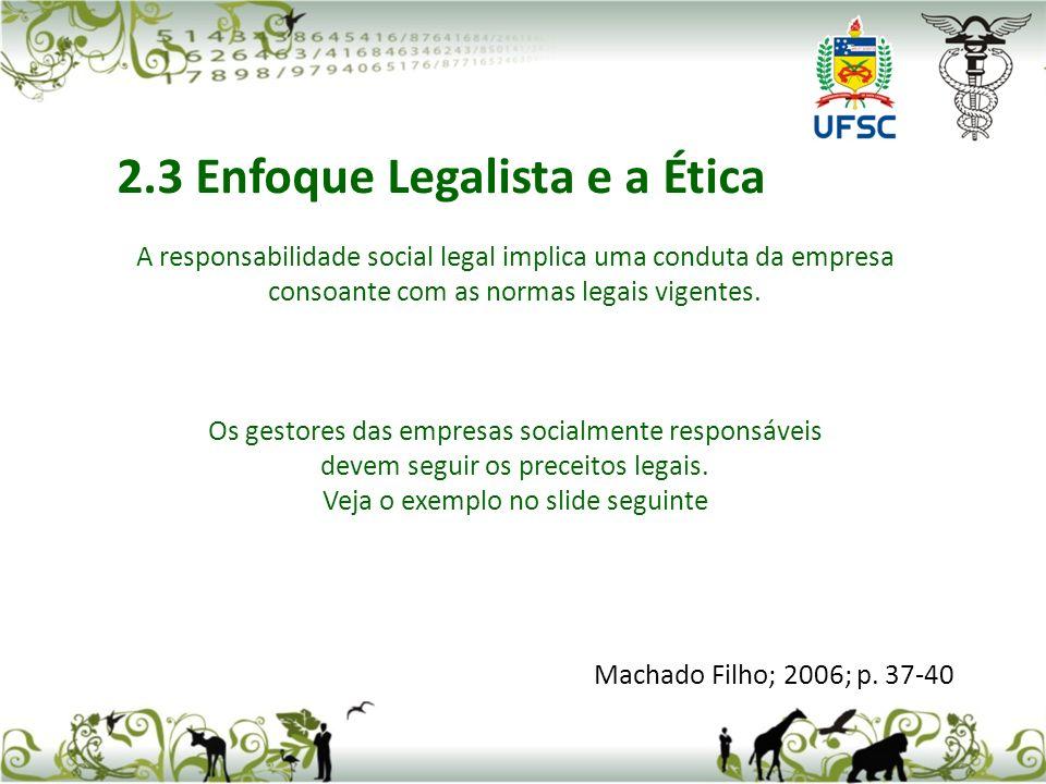 A responsabilidade social legal implica uma conduta da empresa consoante com as normas legais vigentes.