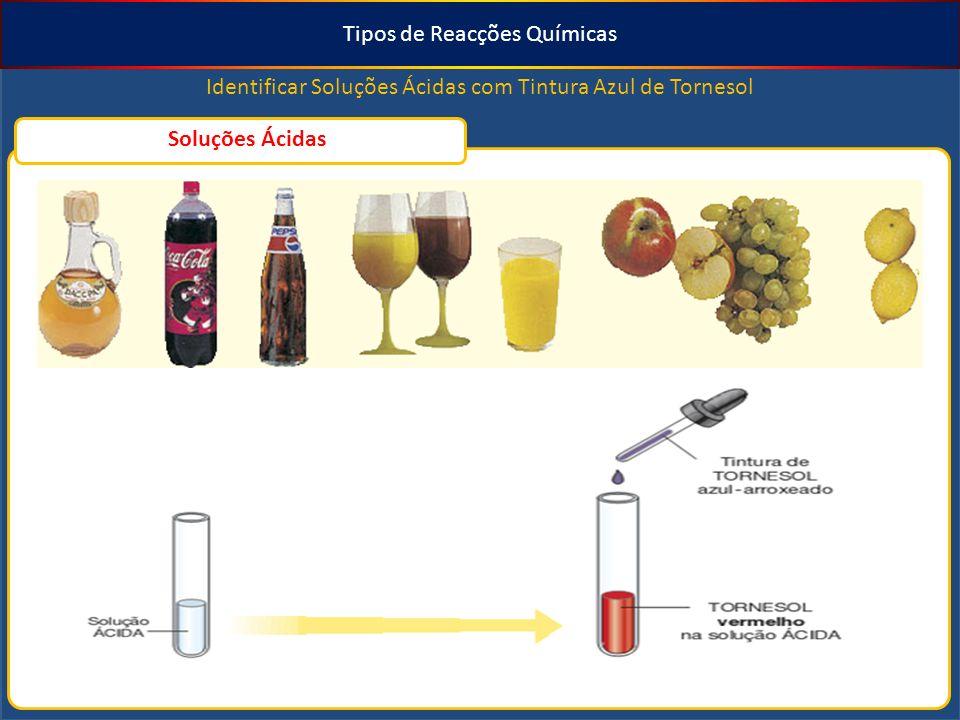 Tipos de Reacções Químicas Identificar Soluções Básicas com Solução Alcoólica de Fenolftaleína Soluções Básicas