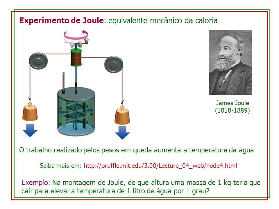 Calor de transformação (calor latente): durante uma transformação de fase, o calor é usado para quebrar (ou refazer) as ligações químicas, e com isso a temperatura permanece constante L: calor latente (por unidade de massa)