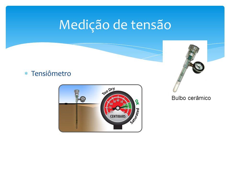 Tensiômetro Medição de tensão Bulbo cerâmico