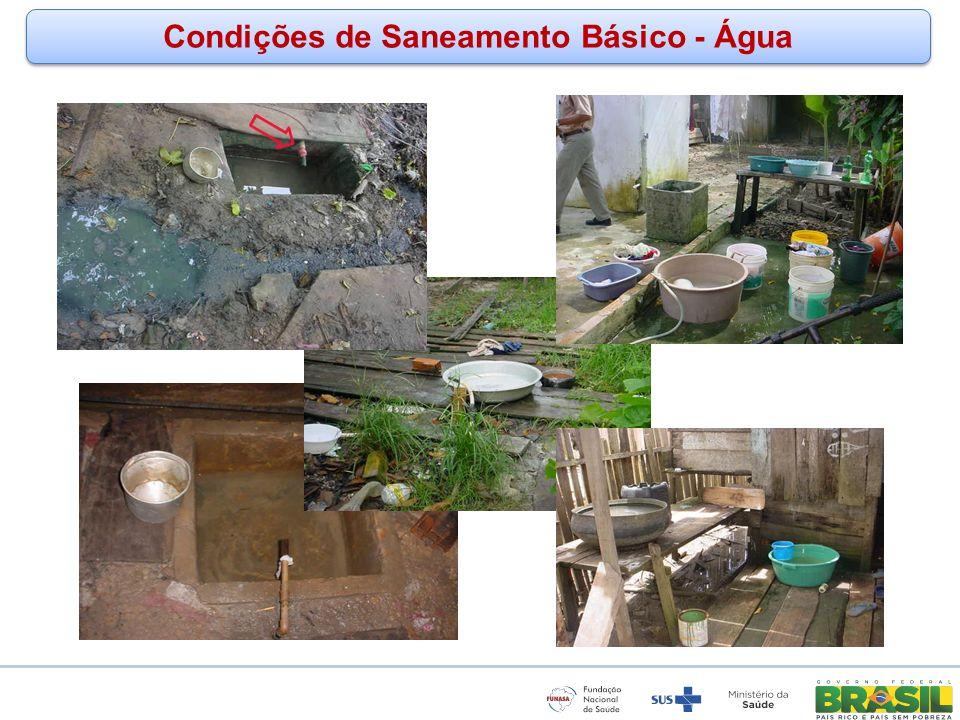 www.funasa.gov.br www.facebook.com/funasa.oficial twitter.com/funasa Condições de Saneamento Básico - Água
