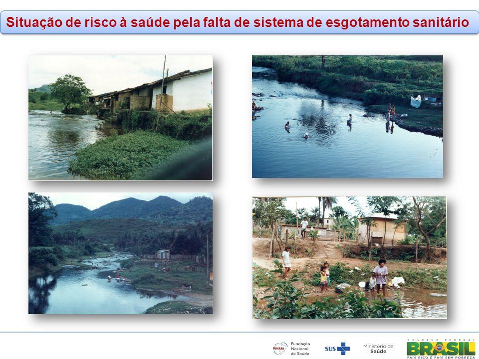 www.funasa.gov.br www.facebook.com/funasa.oficial twitter.com/funasa Situação de risco à saúde pela falta de sistema de esgotamento sanitário