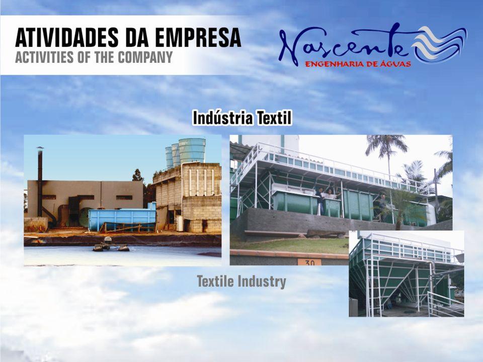 Estação de tratamento de Afluente (ETA) Estação de tratamento de Efluente (ETE) Estação de Tratamento