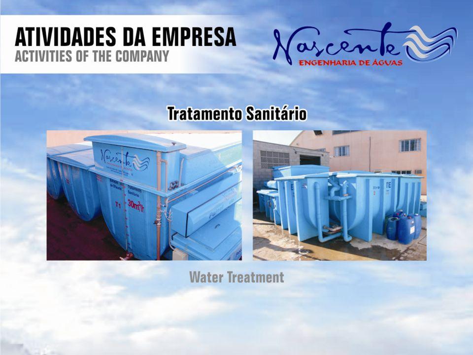 Estação de tratamento de Efluente Vazão Tipo de tratamento Sistema de tratamento Funcionamento semi-automático Componentes adicionais Bomba entrada Bomba saída Bombas dosaboras Dados Técnicos