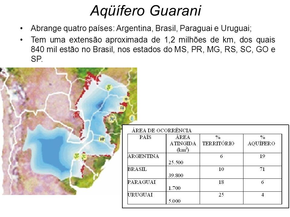 Abrange quatro países: Argentina, Brasil, Paraguai e Uruguai; Tem uma extensão aproximada de 1,2 milhões de km, dos quais 840 mil estão no Brasil, nos estados do MS, PR, MG, RS, SC, GO e SP.