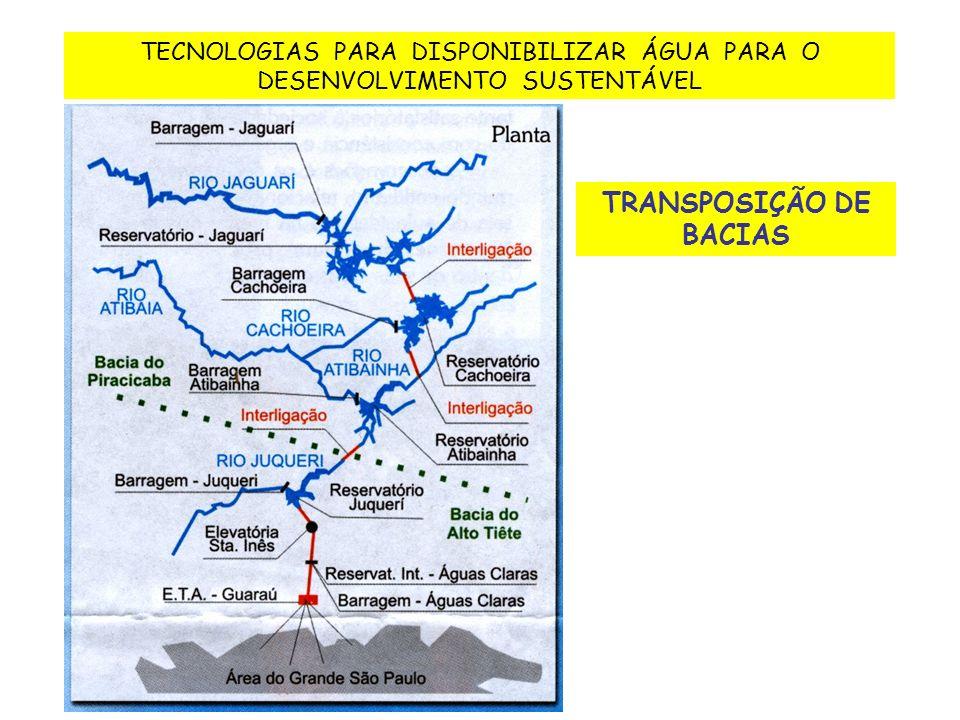 TRANSPOSIÇÃO DE BACIAS TECNOLOGIAS PARA DISPONIBILIZAR ÁGUA PARA O DESENVOLVIMENTO SUSTENTÁVEL