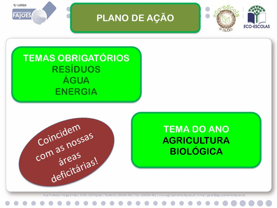 Rua Professor Veiga Simão   3700 - 355 Fajões   Telefone: 256 850 450   Fax: 256 850 452   www.agrupamento-fajoes.pt   E-mail: geral@agrupamento-fajoe