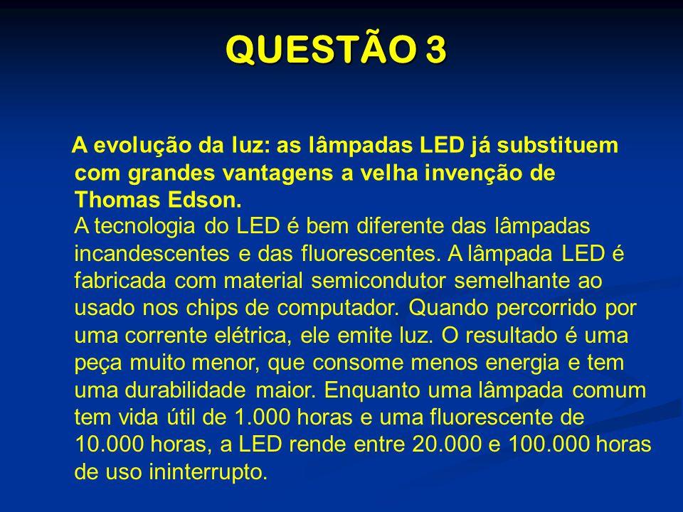 A tecnologia do LED é bem diferente das lâmpadas incandescentes e das fluorescentes. A lâmpada LED é fabricada com material semicondutor semelhante ao
