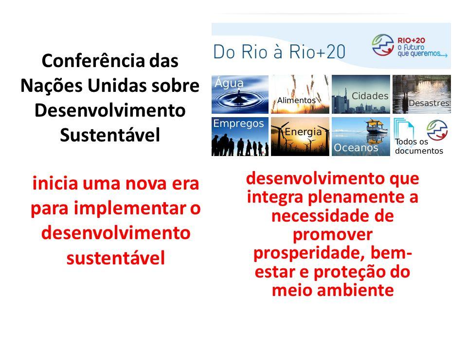 Conferência das Nações Unidas sobre Desenvolvimento Sustentável inicia uma nova era para implementar o desenvolvimento sustentável desenvolvimento que