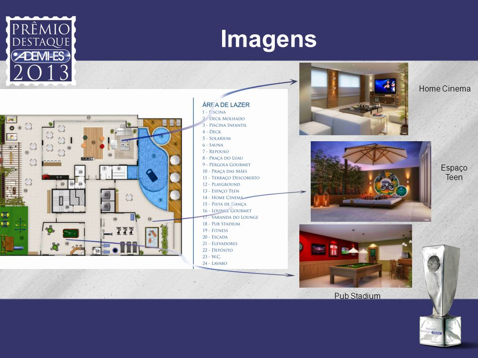 Imagens Home Cinema Espaço Teen Pub Stadium