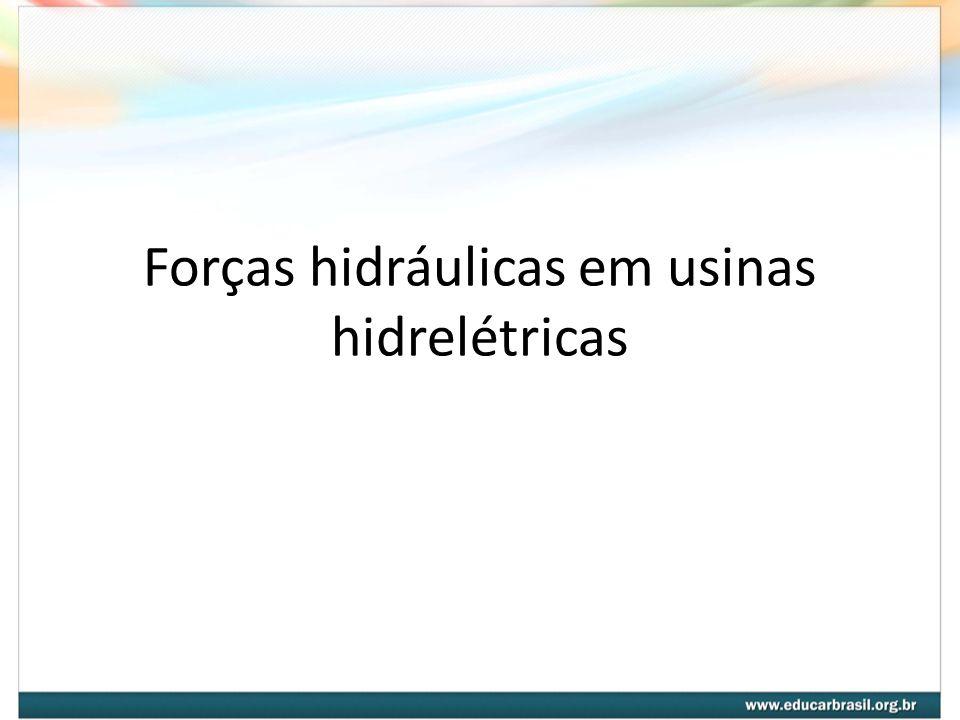 Forças hidráulicas em usinas hidrelétricas