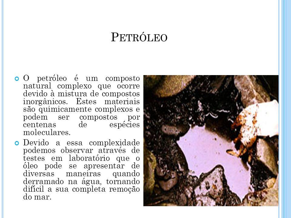 O petróleo é um composto natural complexo que ocorre devido à mistura de compostos inorgânicos. Estes materiais são quimicamente complexos e podem ser