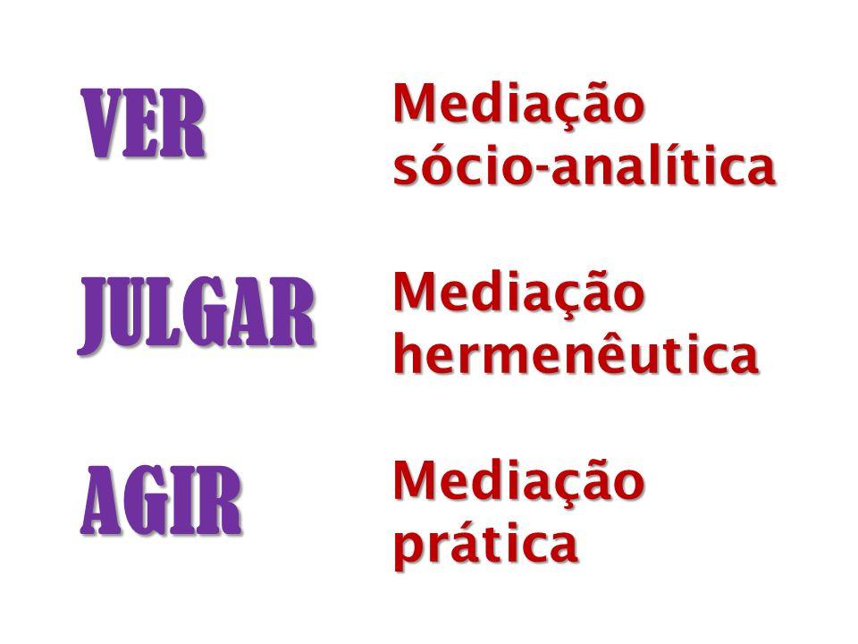 VERJULGARAGIR Mediaçãosócio-analíticaMediaçãohermenêuticaMediaçãoprática