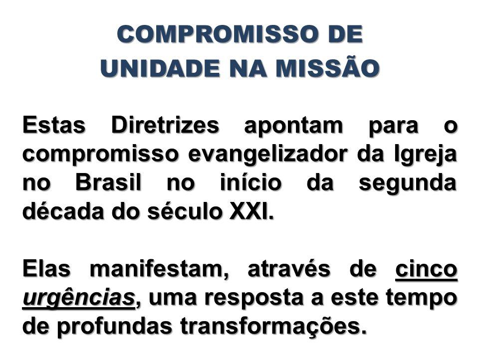 Estas Diretrizes apontam para o compromisso evangelizador da Igreja no Brasil no início da segunda década do século XXI. Elas manifestam, através de c