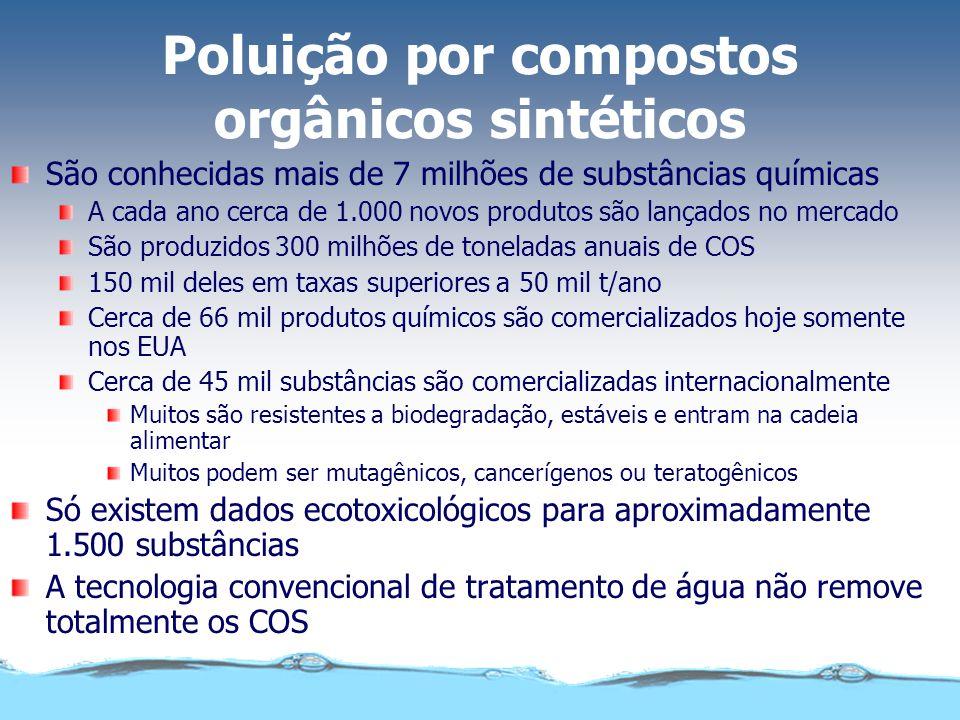 São conhecidas mais de 7 milhões de substâncias químicas A cada ano cerca de 1.000 novos produtos são lançados no mercado São produzidos 300 milhões d