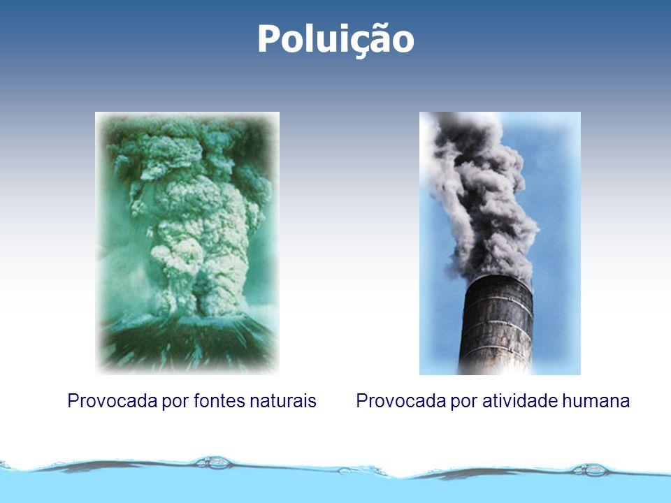 Poluição Provocada por fontes naturaisProvocada por atividade humana