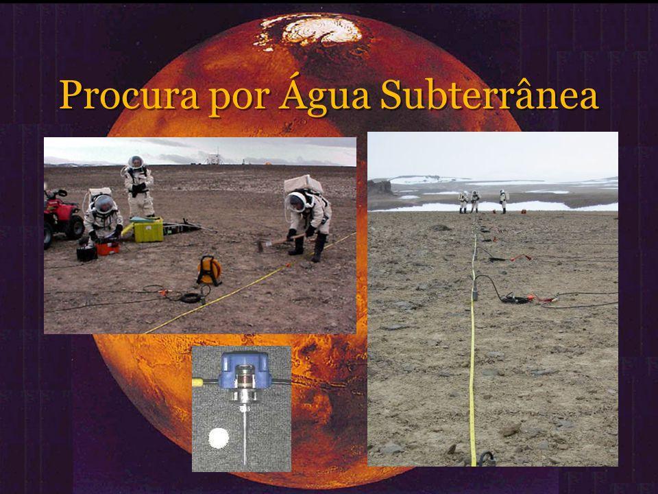 O Sistema Automatizado Vantagens: Evitar a exposição humana ao ambiente marciano Ausência de esforço físico Precisão na força e no local de impacto Repetibilidade do processo