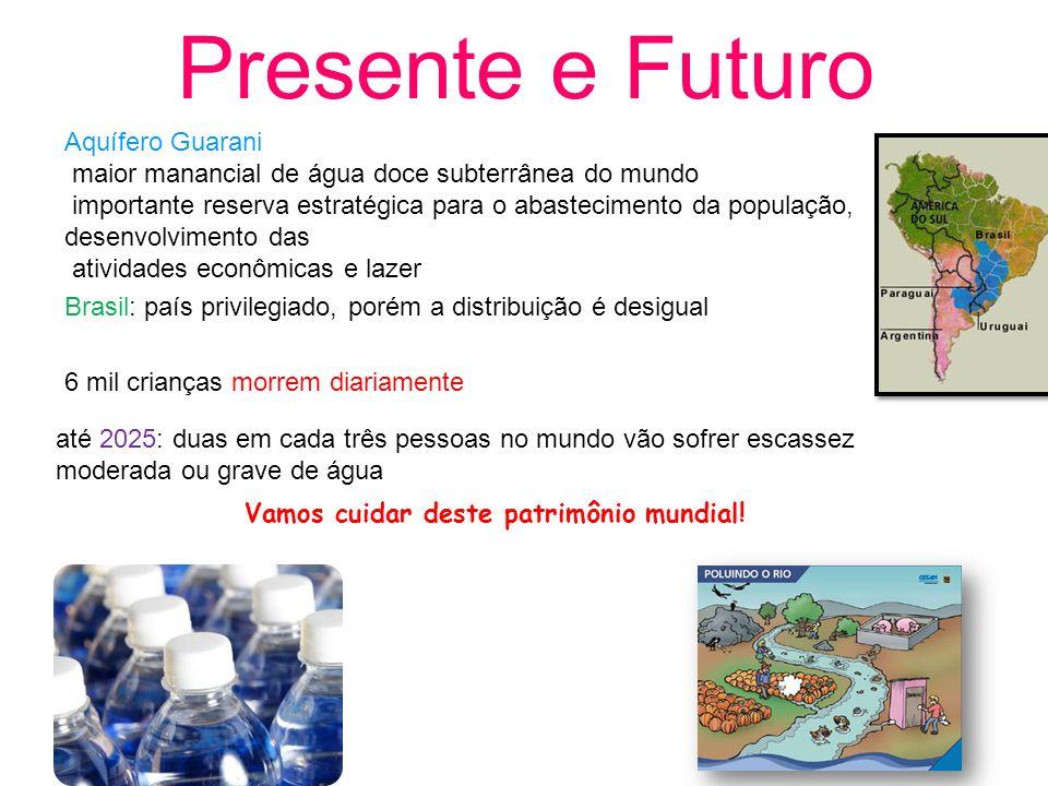 Presente e Futuro Aquífero Guarani maior manancial de água doce subterrânea do mundo importante reserva estratégica para o abastecimento da população,