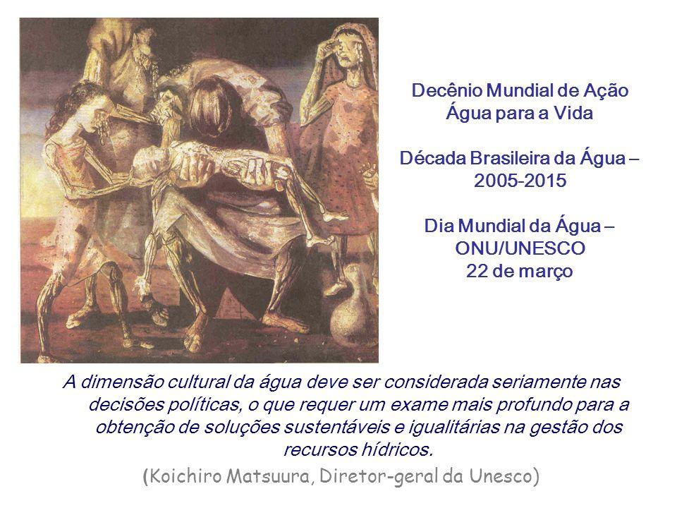 Decênio Mundial de Ação Água para a Vida Década Brasileira da Água – 2005-2015 Dia Mundial da Água – ONU/UNESCO 22 de março A dimensão cultural da águ