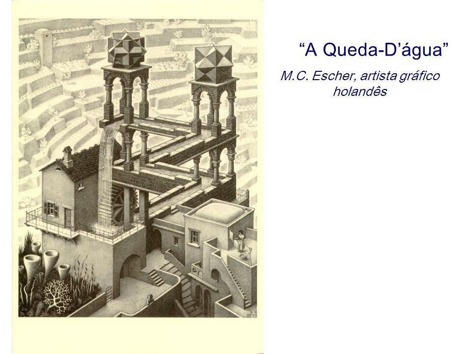 A Queda-Dágua M.C. Escher, artista gráfico holandês
