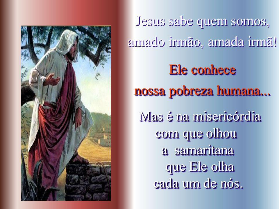 Sentindo-se tocada no profundo da alma, a samaritana pede a água que Jesus oferece. a samaritana pede a água que Jesus oferece. Sentindo-se tocada no