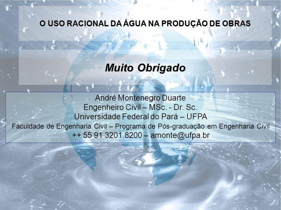 Muito Obrigado André Montenegro Duarte Engenheiro Civil – MSc.