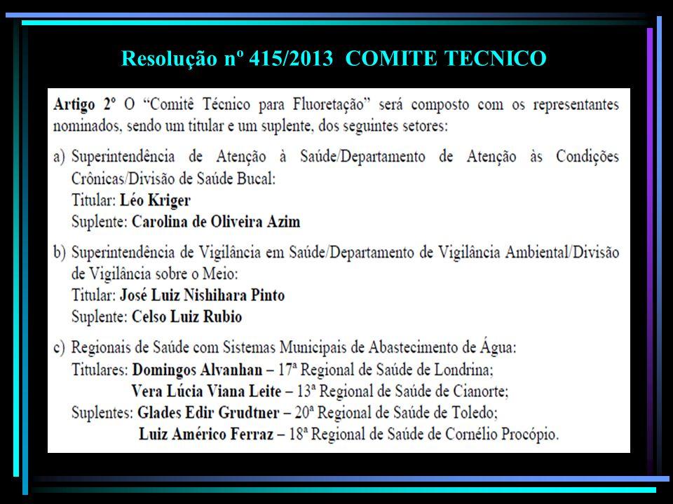 Resolução nº 415/2013 COMITE TECNICO