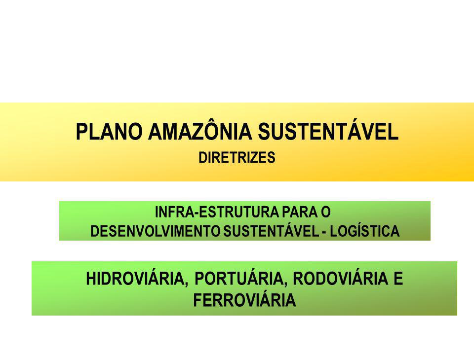 INFRA-ESTRUTURA PARA O DESENVOLVIMENTO SUSTENTÁVEL - LOGÍSTICA PLANO AMAZÔNIA SUSTENTÁVEL DIRETRIZES HIDROVIÁRIA, PORTUÁRIA, RODOVIÁRIA E FERROVIÁRIA