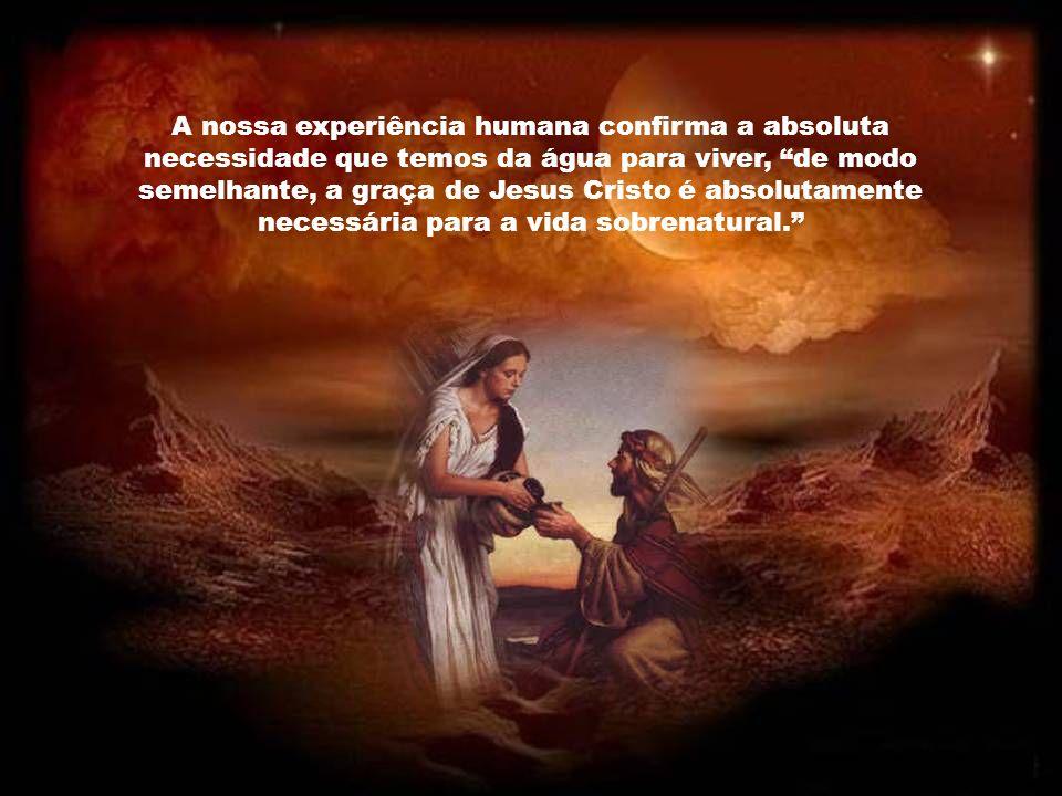 Jesus pede de beber não só pela sede física mas porque tinha sede da salvação dos homens, por amor a eles. Estando cravado na Cruz voltou a dizer: Ten