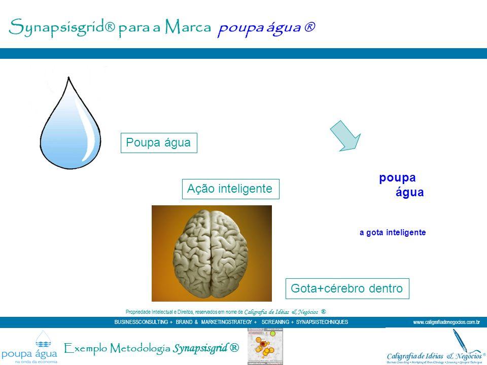 Ação inteligente Poupa água a gota inteligente Gota+cérebro dentro poupa água Propriedade Intelectual e Direitos, reservados em nome de Caligrafia de