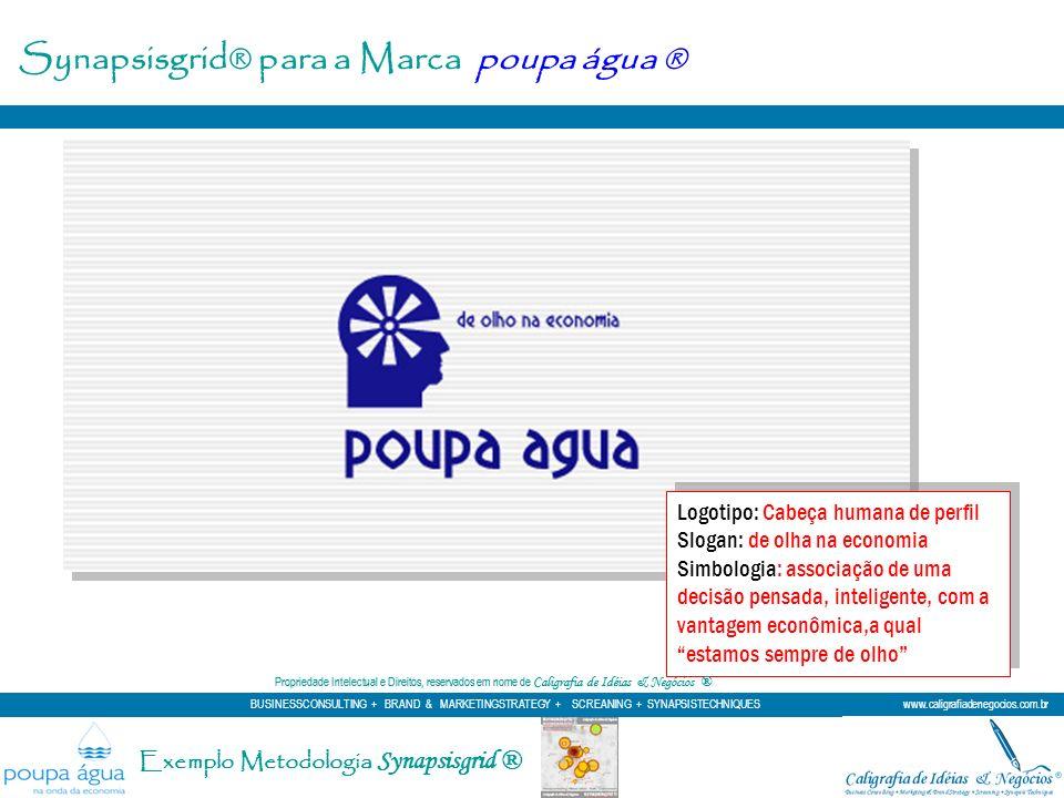 Synapsisgrid® para a Marca poupa água ® Logotipo: Cabeça humana de perfil Slogan: de olha na economia Simbologia: associação de uma decisão pensada, i