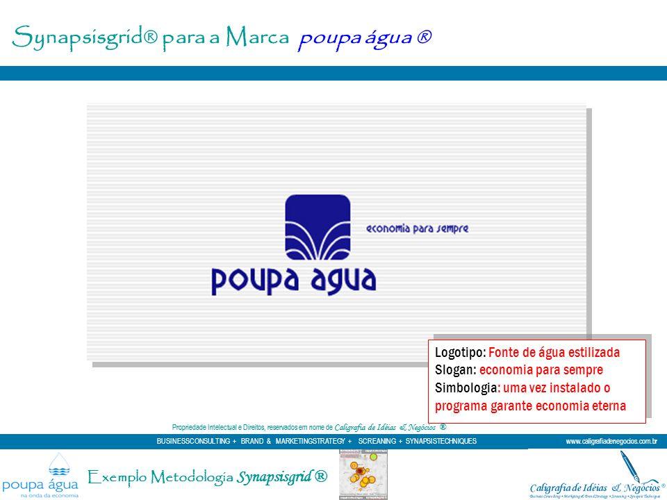 Logotipo: Fonte de água estilizada Slogan: economia para sempre Simbologia: uma vez instalado o programa garante economia eterna Logotipo: Fonte de ág