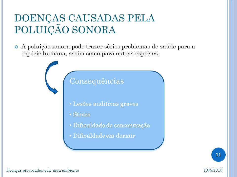 Consequências Lesões auditivas graves Stress Dificuldade de concentração Dificuldade em dormir Consequências Lesões auditivas graves Stress Dificuldad
