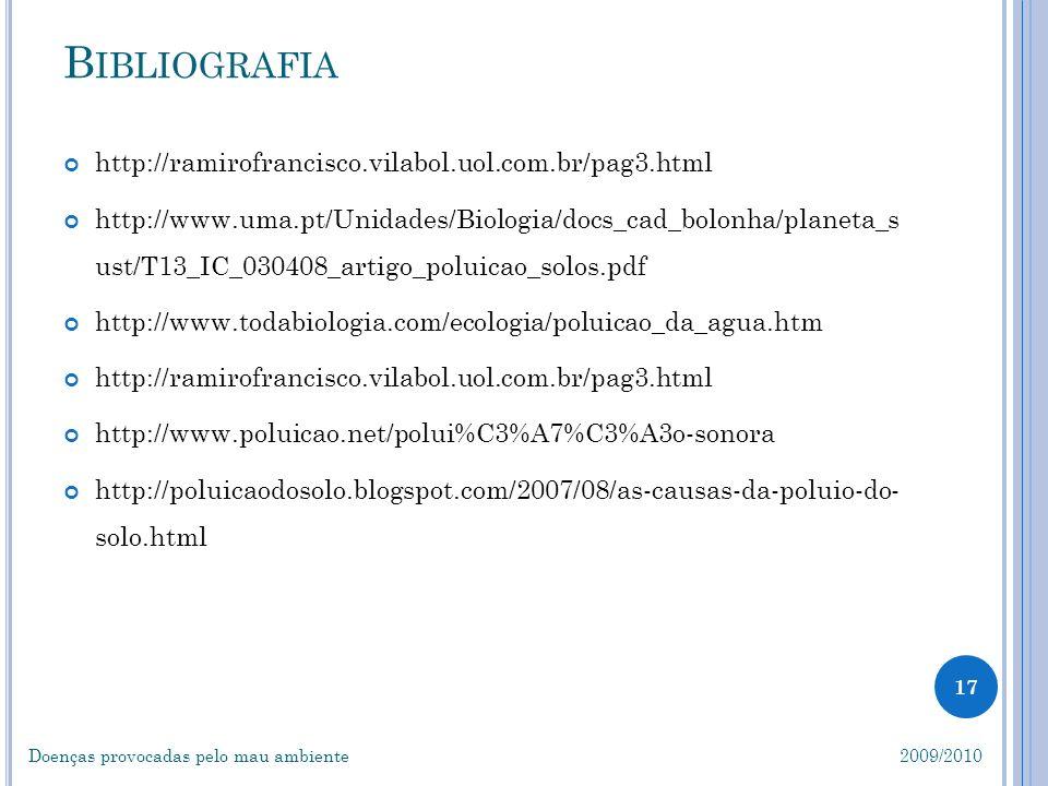 B IBLIOGRAFIA http://ramirofrancisco.vilabol.uol.com.br/pag3.html http://www.uma.pt/Unidades/Biologia/docs_cad_bolonha/planeta_s ust/T13_IC_030408_art