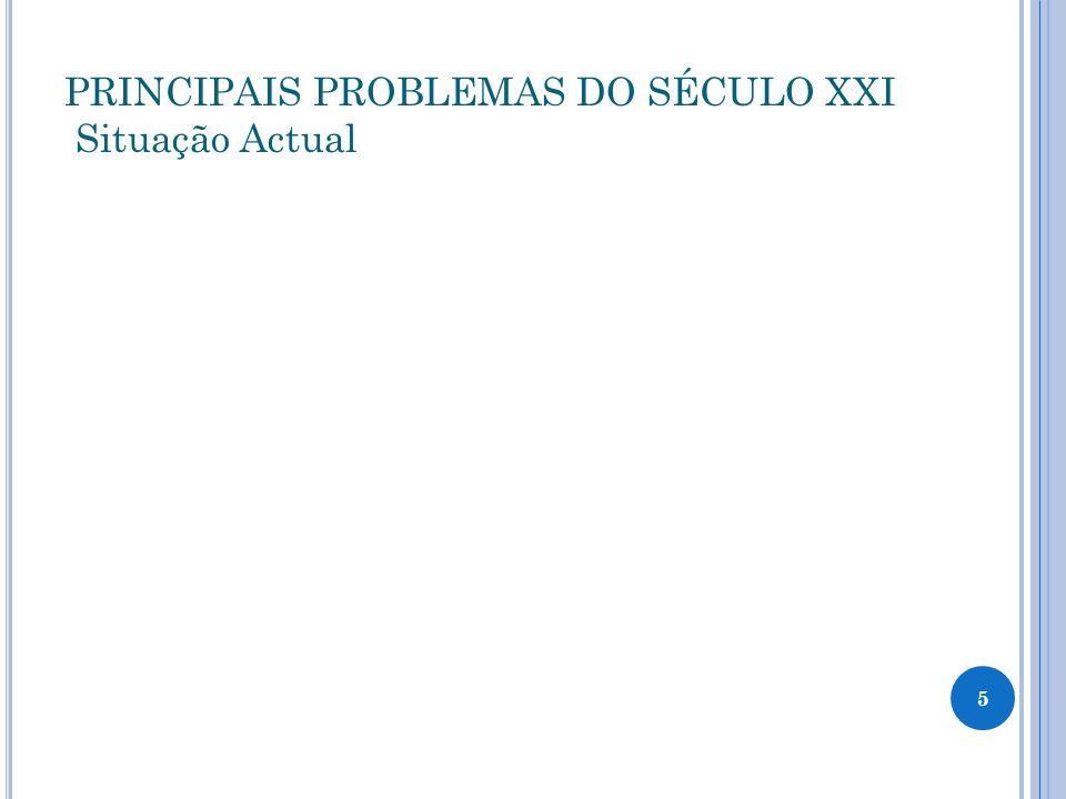 PRINCIPAIS PROBLEMAS DO SÉCULO XXI P revisão para o futuro e suas consequências 6