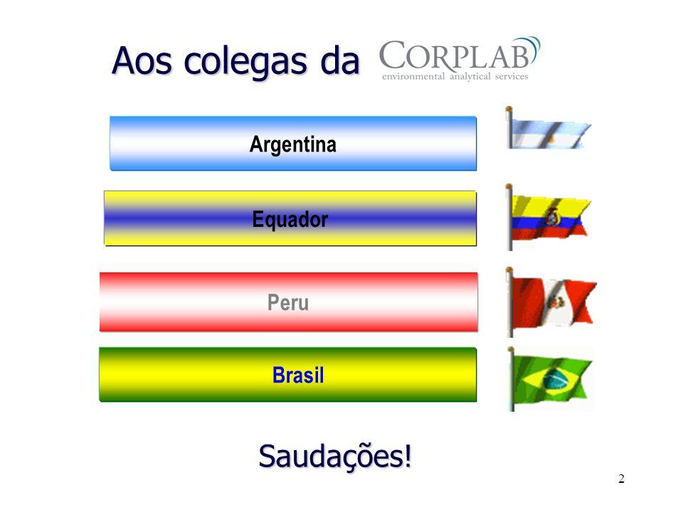 2 Brasil Peru Equador Argentina Aos colegas da Saudações!