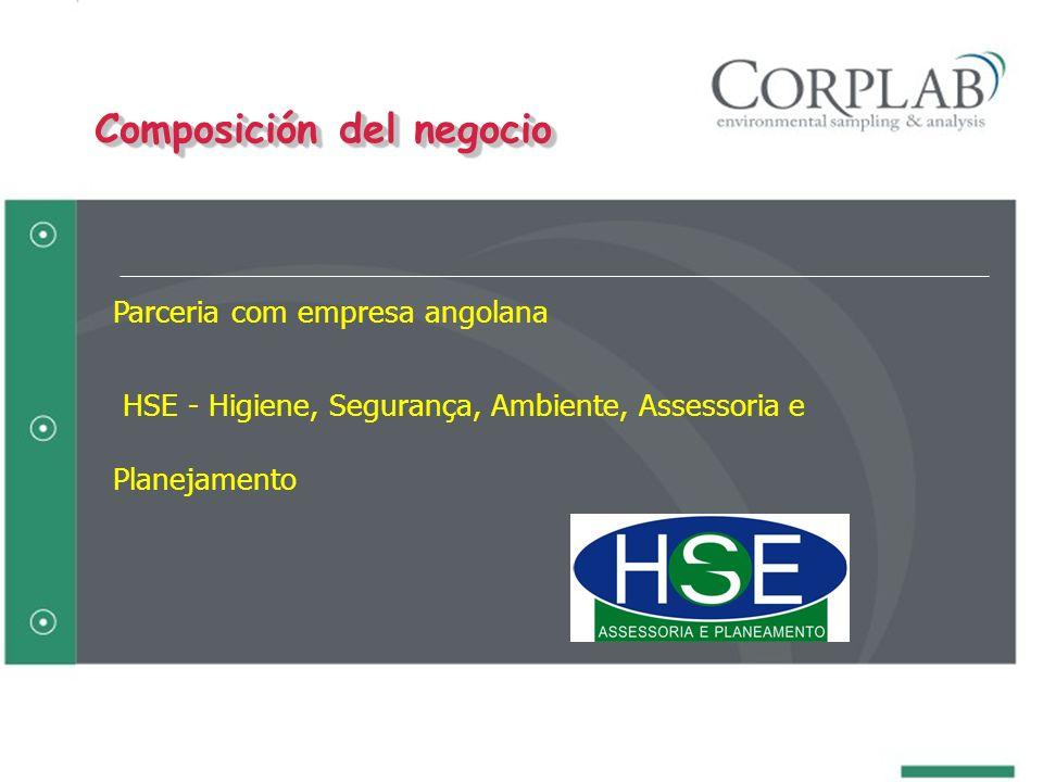 Parceria com empresa angolana HSE - Higiene, Segurança, Ambiente, Assessoria e Planejamento Composición del negocio