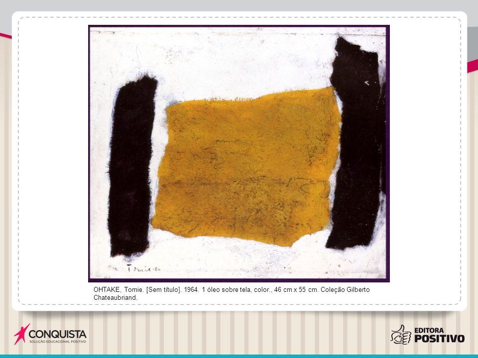 OHTAKE, Tomie.[Sem título]. 1964. 1 óleo sobre tela, color., 46 cm x 55 cm.