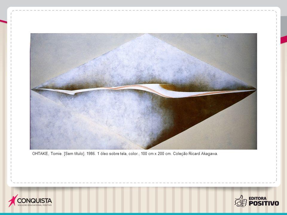 OHTAKE, Tomie.[Sem título]. 1986. 1 óleo sobre tela, color., 100 cm x 200 cm.